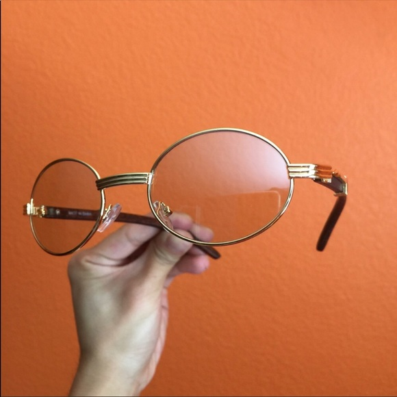 1ce5fea76a Vintage Inspired Gold Frames Clear Oval Glasses. M 5b0e4b91d39ca2d65b22024e